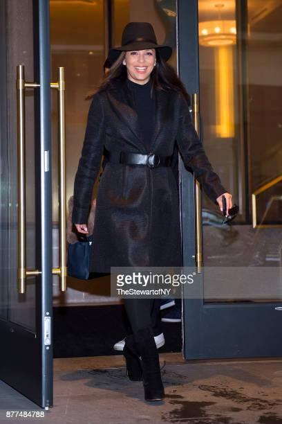Eva Longoria is seen in Midtown South on November 22 2017 in New York City