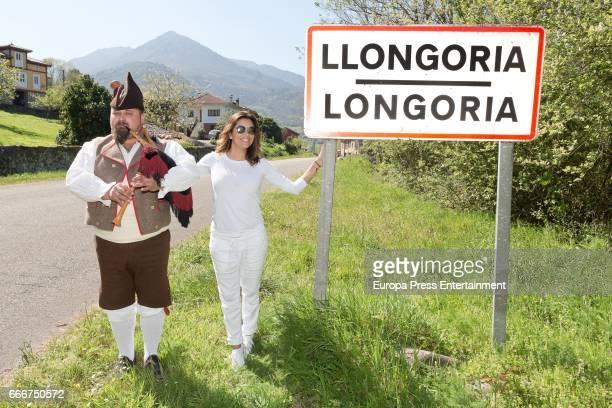 Eva Longoria is seen on April 7 2017 in Longoria Spain The village of Eva Longoria's ancestors