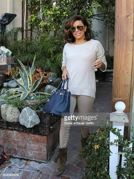 Eva Longoria is seen on December 31 2015 in Los Angeles California