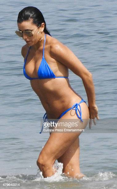 Eva Longoria is seen on July 3 2015 in Marbella Spain