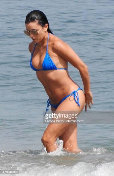 Eva Longoria is seen on July 3 2015 in Marbella Spain