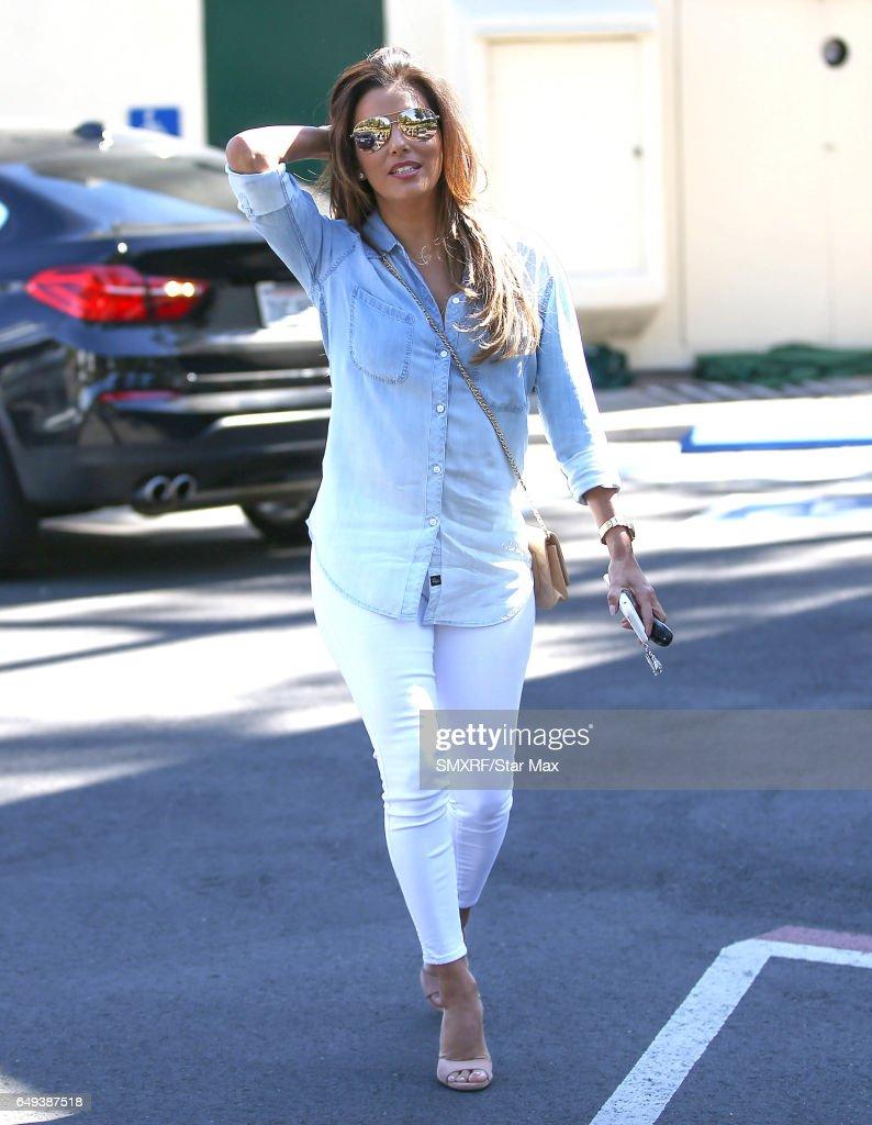 Eva Longoria is seen on March 7, 2017 in Los Angeles, California.