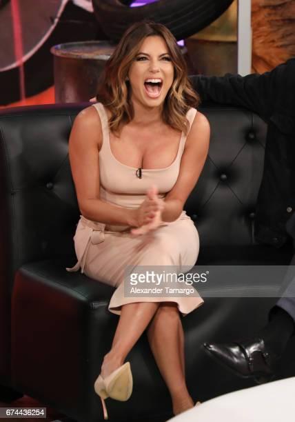 Eva Longoria is seen on the set of 'Un Nuevo Dia' at Telemundo Studios to promote the movie 'Lowrider' on April 28 2017 in Miami Florida