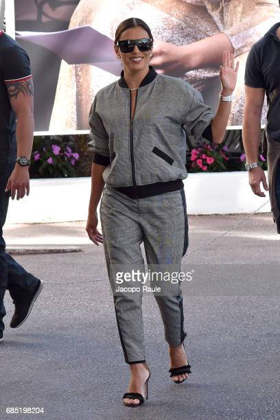 Eva Longoria is spotted at Hotel Martinez during the 70th annual Cannes Film Festival at on May 19 2017 in Cannes France