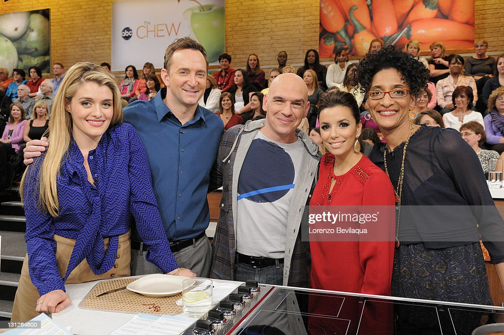 THE CHEW - 11.3.11 - <a gi-track='captionPersonalityLinkClicked' href=/galleries/search?phrase=Eva+Longoria&family=editorial&specificpeople=202082 ng-click='$event.stopPropagation()'>Eva Longoria</a> of ABC's 'Desperate Housewives' visits the delicious new daytime talk show, airing MONDAY - FRIDAY (1-2pm, ET) on the ABC Television Network. HALL