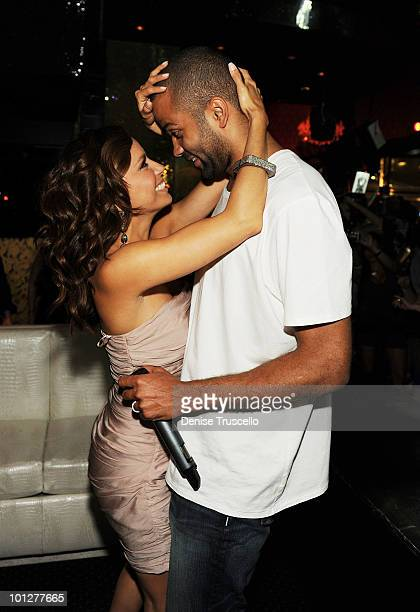 Eva Longoria Parker and Tony Parker attend Eve Nightclub at Crystals at CityCenter on May 29 2010 in Las Vegas Nevada