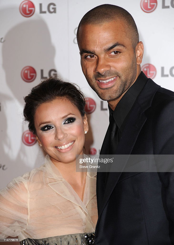 Eva Longoria Parker and Tony Parker attends A Night Of Fashion & Technology With LG Mobile Phones Hosted By Victoria Beckham & Eva Longoria at Soho House on May 24, 2010 in West Hollywood, California.