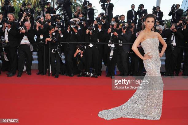 Eva Longoria Parker attends the 'On Tour' Premiere at the Palais des Festivals during the 63rd Annual Cannes Film Festival on May 13 2010 in Cannes...