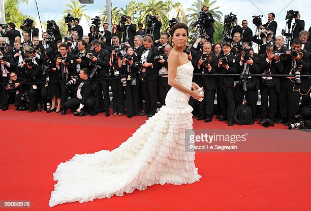 Eva Longoria Parker attends the 'Robin Hood' Premiere at the Palais des Festivals during the 63rd Annual Cannes Film Festival on May 12 2010 in...