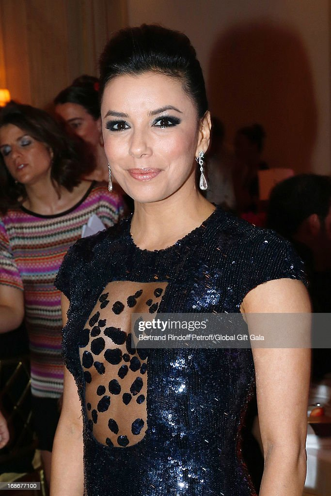 Eva Longoria presents 'Global Gift Gala' at Hotel George V on May 13, 2013 in Paris, France.