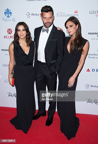 Eva Longoria Ricky Martin and Victoria Beckham attend the 5th Global Gift Gala hosted by honorary chair Eva Longoria at the Four Seasons Hotel on...