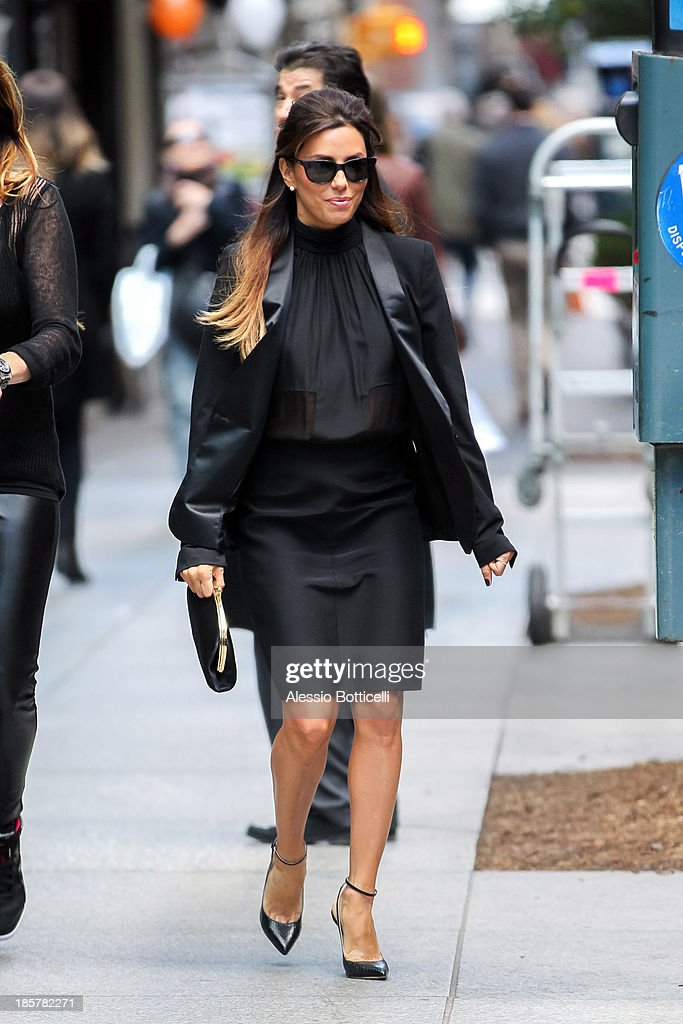 <a gi-track='captionPersonalityLinkClicked' href=/galleries/search?phrase=Eva+Longoria&family=editorial&specificpeople=202082 ng-click='$event.stopPropagation()'>Eva Longoria</a> seen leaving Milos Restaurant on October 24, 2013 in New York City.