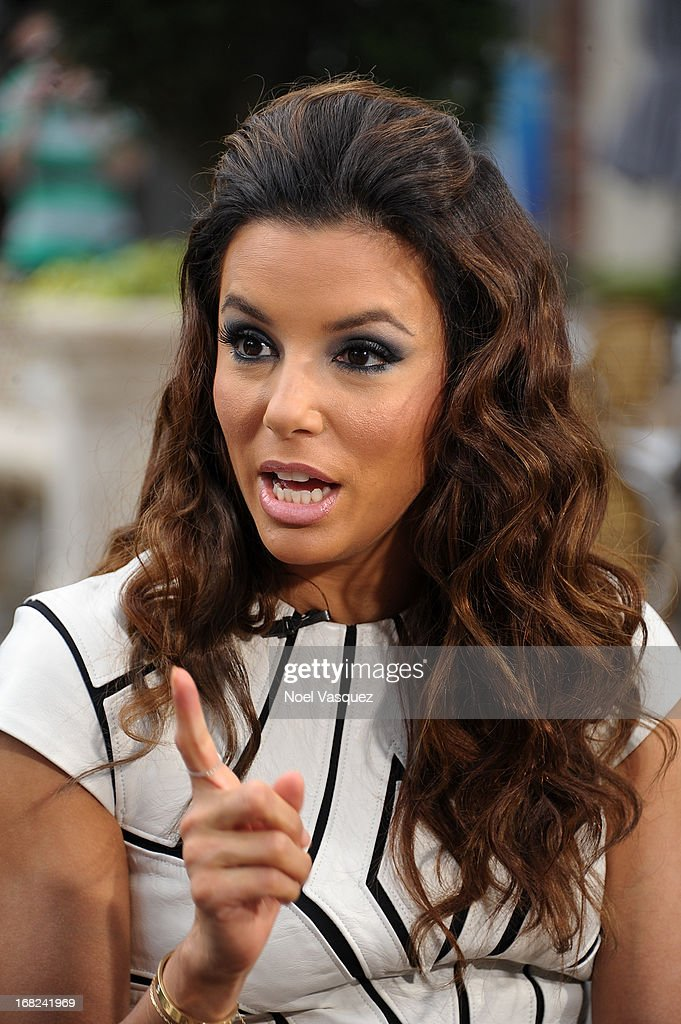 Eva Longoria visits 'Extra' at The Grove on May 7, 2013 in Los Angeles, California.
