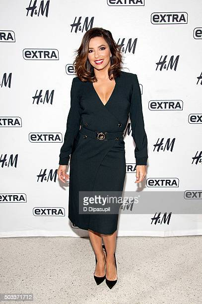 Eva Longoria visits 'Extra' at their New York studios at HM in Times Square on January 4 2016 in New York City