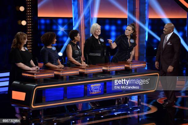 FEUD 'Eva Longoria vs George Lopez and Yvette Nicole Brown vs Ashley Graham' The celebrity teams competing to win cash for their charities features...