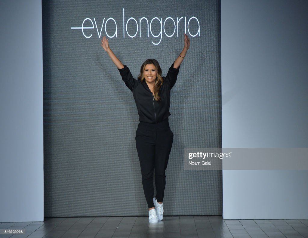 Eva Longoria walks the runway at the Eva Longoria Collection fashion show during New York Fashion Week: Style360 at Metropolitan West on September 13, 2017 in New York City.