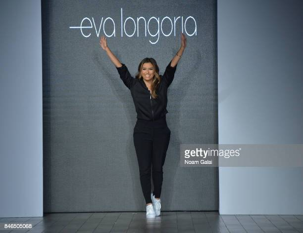 Eva Longoria walks the runway at the Eva Longoria Collection fashion show during New York Fashion Week Style360 at Metropolitan West on September 13...