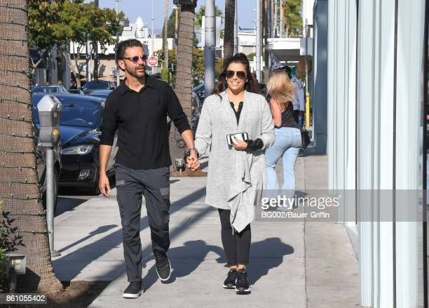 Eva Longoria with husband Jose Basten are spotted on Canon Drive in Beverly Hills on October 13 2017 in Los Angeles California