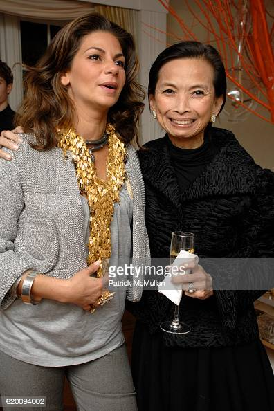 Eva Lorenzotti and Josie Natori attend VIVRE 2008 Spring/Summer Preview Collection hosted by EVA JEANBARTLORENZOTTI at 995 Fifth Ave on February 11...