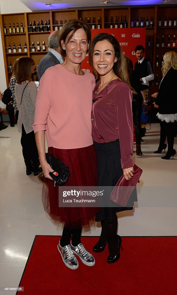 Eva Lutz and Anstasia Zampounidis attends the GALA Fashion Brunch at Ellington Hotel on January 22 2015 in Berlin Germany