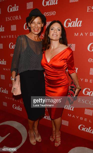 Eva Lutz and Christine Neubauer attend the Gala Fashion Brunch at Ellington Hotel on July 11 2014 in Berlin Germany