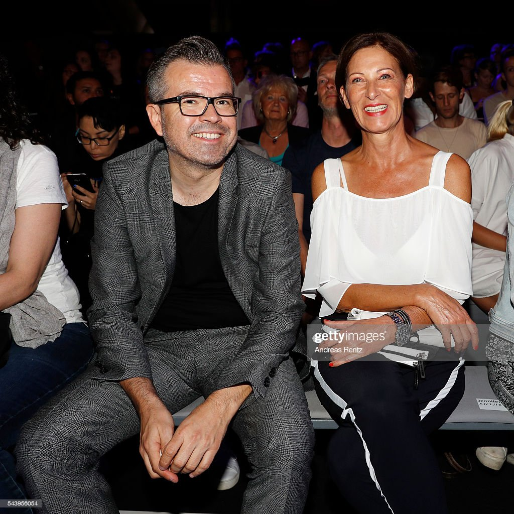Eva Lutz and Reinhold Maetzler attends the 'Designer for Tomorrow' show during the MercedesBenz Fashion Week Berlin Spring/Summer 2017 at Erika Hess...
