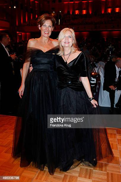 Eva Lutz and Sabine Postel attend the Leipzig Opera Ball 2015 on October 31 2015 in Leipzig Germany