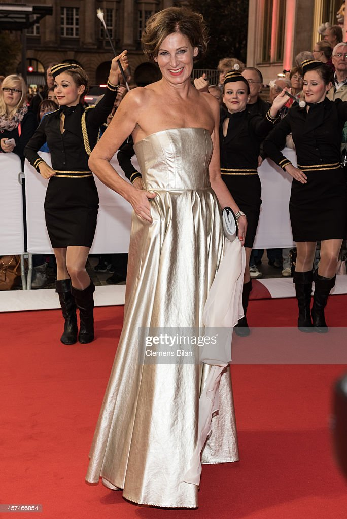 Eva Lutz attends the Opera Ball Leipzig at Opernhaus on October 18 2014 in Leipzig Germany