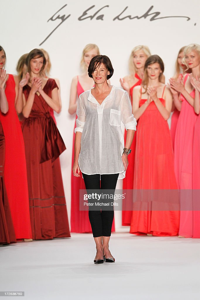 Eva Lutz walks the runway after the Minx By Eva Lutz show during Mercedes-Benz Fashion Week Spring/Summer 2014 at Brandenburg Gate on July 3, 2013 in Berlin, Germany.