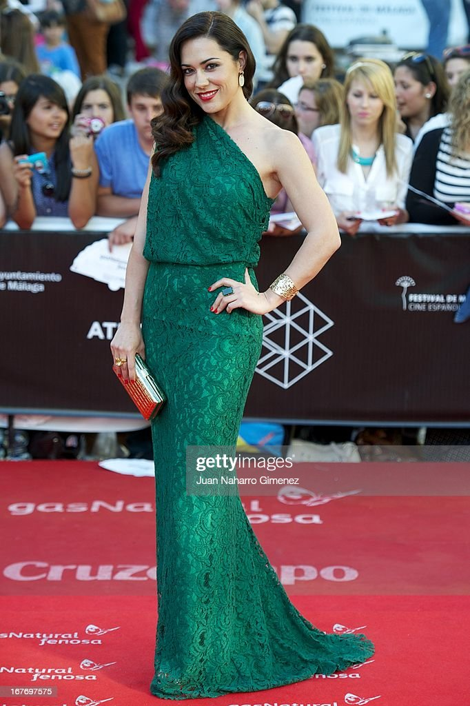 Eva Marciel attends 16 Malaga Film Festival ceremony at Teatro Cervantes on April 27, 2013 in Malaga, Spain.