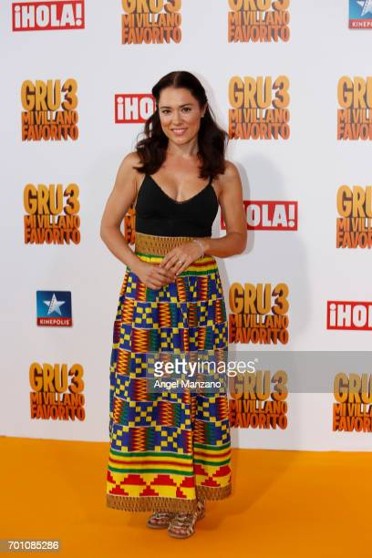 Eva Marciel attends the 'Despicable Me 3' premiere at Kinepolis cinema on June 22 2017 in Madrid SPAIN