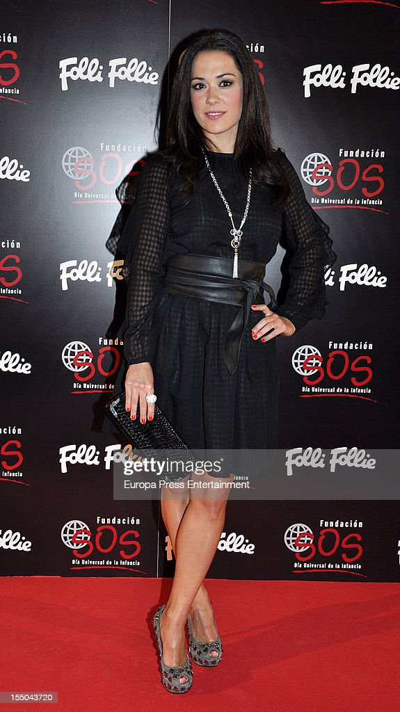 Eva Marciel attends the 'Folli Follie' campaign launch on October 30, 2012 in Madrid, Spain.