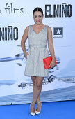 Eva Marciel attends the premiere of 'El Nino' at Kinepolis Cinema on August 28 2014 in Madrid Spain