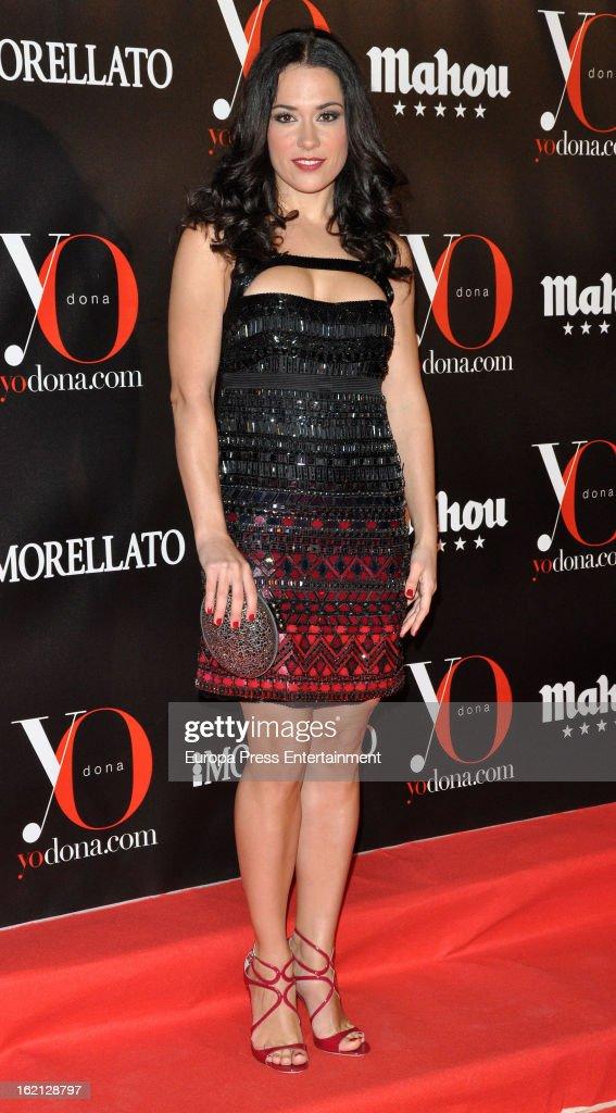 Eva Marciel attends 'Yo Dona' magazine mask party on February 18, 2013 in Madrid, Spain.