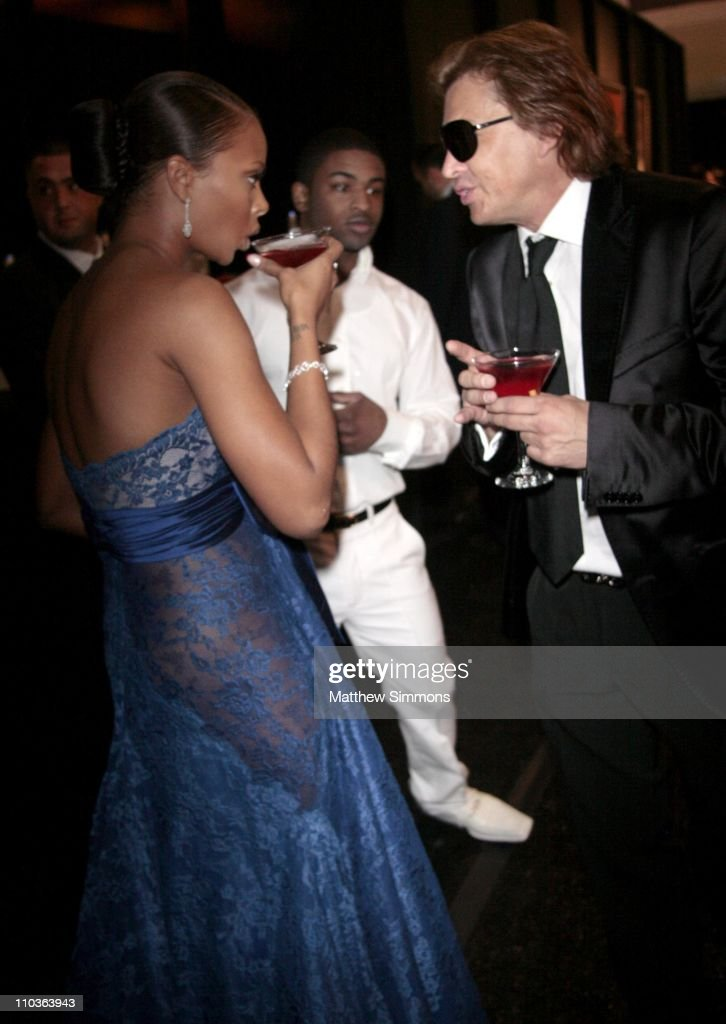<a gi-track='captionPersonalityLinkClicked' href=/galleries/search?phrase=Eva+Marcille&family=editorial&specificpeople=208986 ng-click='$event.stopPropagation()'>Eva Marcille</a> and Smoking Everywhere Co-Owner Ferdinand Bare at the Smoking Everywhere booth backstage at the NAACP Image Awards at the Shrine Auditorium on February 12, 2009 in Los Angeles, California.