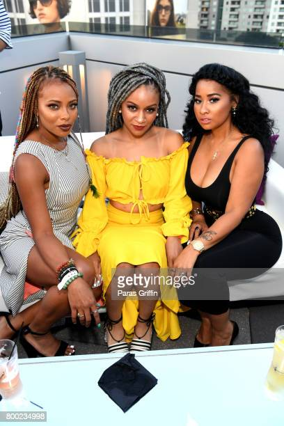 Eva Marcille Ariana Soleil and Tammy Rivera at the BET International Nominee Welcome Party during the 2017 BET Awards at The GRAMMY Museum on June 23...
