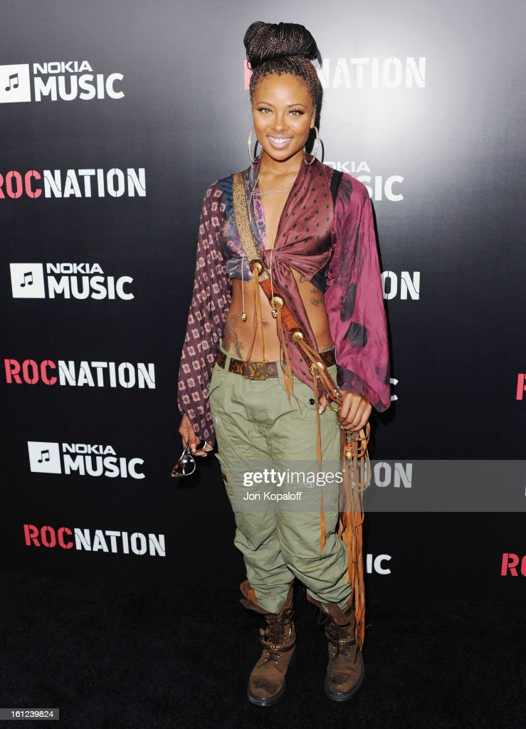 <a gi-track='captionPersonalityLinkClicked' href=/galleries/search?phrase=Eva+Marcille&family=editorial&specificpeople=208986 ng-click='$event.stopPropagation()'>Eva Marcille</a> arrives at Roc Nation Hosts Annual Private Pre-GRAMMY Brunch at Soho House on February 9, 2013 in West Hollywood, California.