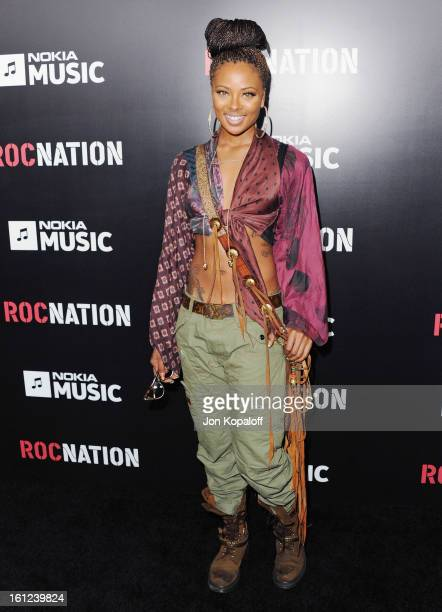 Eva Marcille arrives at Roc Nation Hosts Annual Private PreGRAMMY Brunch at Soho House on February 9 2013 in West Hollywood California