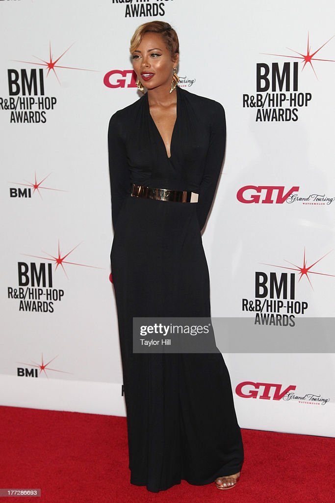 <a gi-track='captionPersonalityLinkClicked' href=/galleries/search?phrase=Eva+Marcille&family=editorial&specificpeople=208986 ng-click='$event.stopPropagation()'>Eva Marcille</a> attends BMI's 2013 R&B/Hip-Hop Awards at The Manhattan Center on August 22, 2013 in New York City.