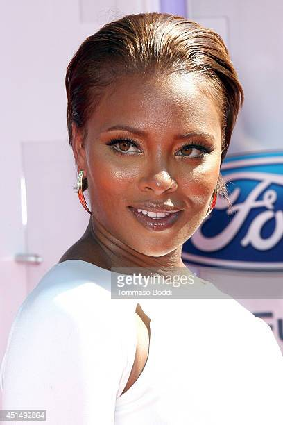 Eva Marcille attends the 'BET AWARDS' 14 held at Nokia Theatre LA Live on June 29 2014 in Los Angeles California