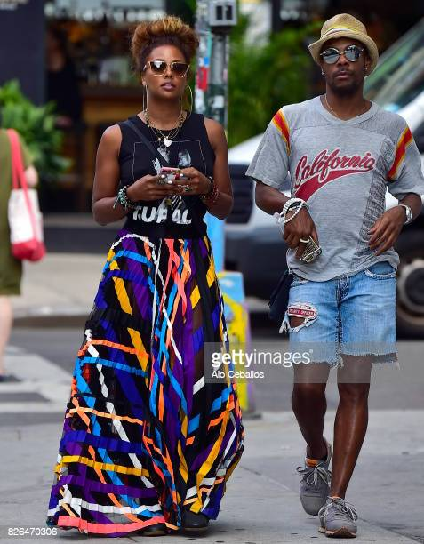 Eva Marcille is seen in Soho on August 4 2017 in New York City