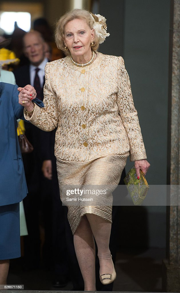 Eva Maria O'Neill arrives at the Royal Palace to attend Te Deum Thanksgiving Service to celebrate the 70th birthday of King Carl Gustaf of Sweden on April 30, 2016 in Stockholm, Sweden.
