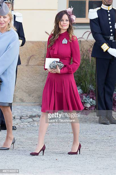 Eva Maria Walter and Princess Sofia of Sweden are seen at Drottningholm Palace for the Christening of Prince Nicolas of Sweden at Drottningholm...