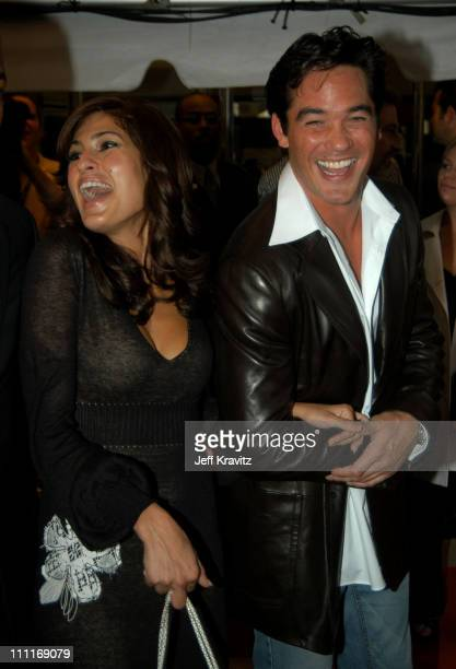 Eva Mendes and Dean Cain during 2003 Toronto Film Festival 'Out of Time' Premiere at Roy Thomason Hall in Toronto Ontario Canada