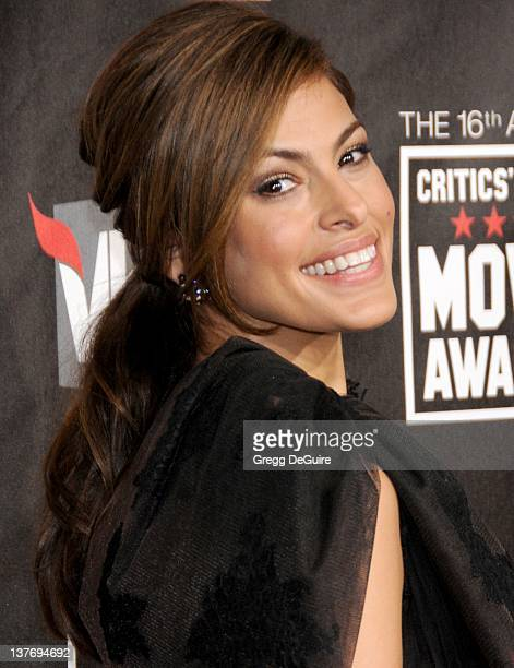 Eva Mendes arrives at The 16th Annual Critics' Choice Movie Awards at the Hollywood Palladium on January 14 2011 in Hollywood California