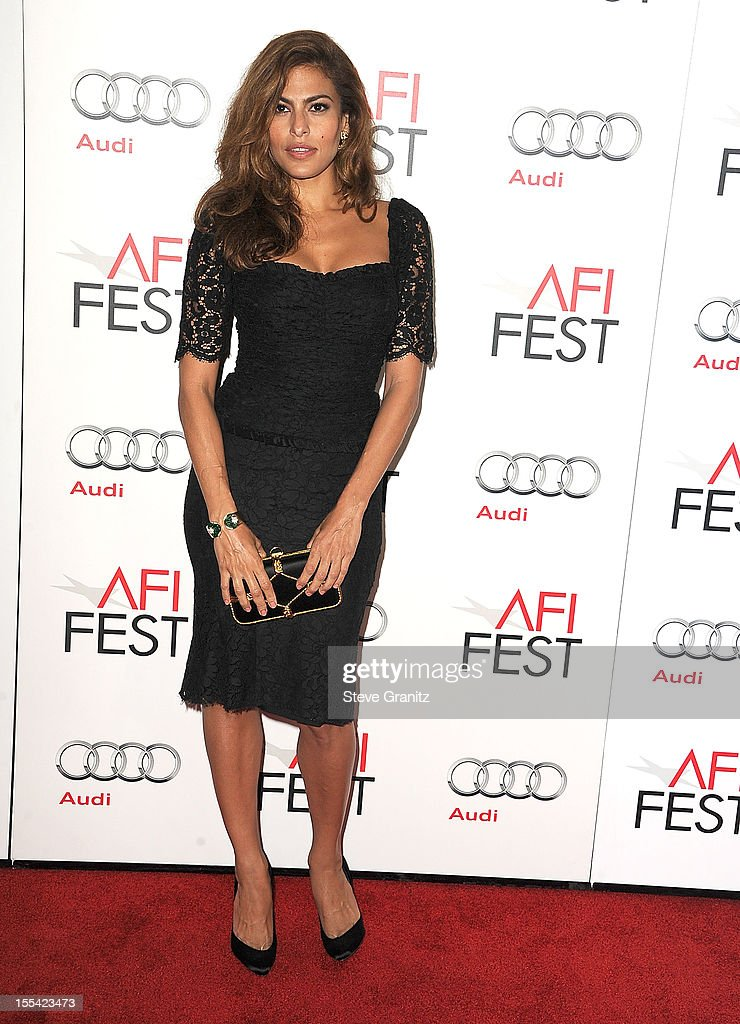 Eva Mendes arrives at the 2012 AFI FEST - 'Holy Motors' Special Screening at Grauman's Chinese Theatre on November 3, 2012 in Hollywood, California.