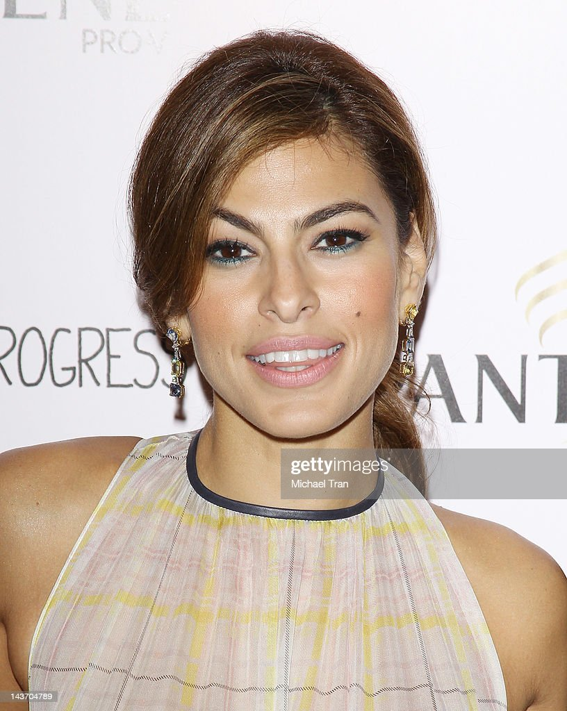 Eva Mendes arrives at the Los Angeles special screening of 'Girl In Progress' held at DGA Theater on May 2 2012 in Los Angeles California