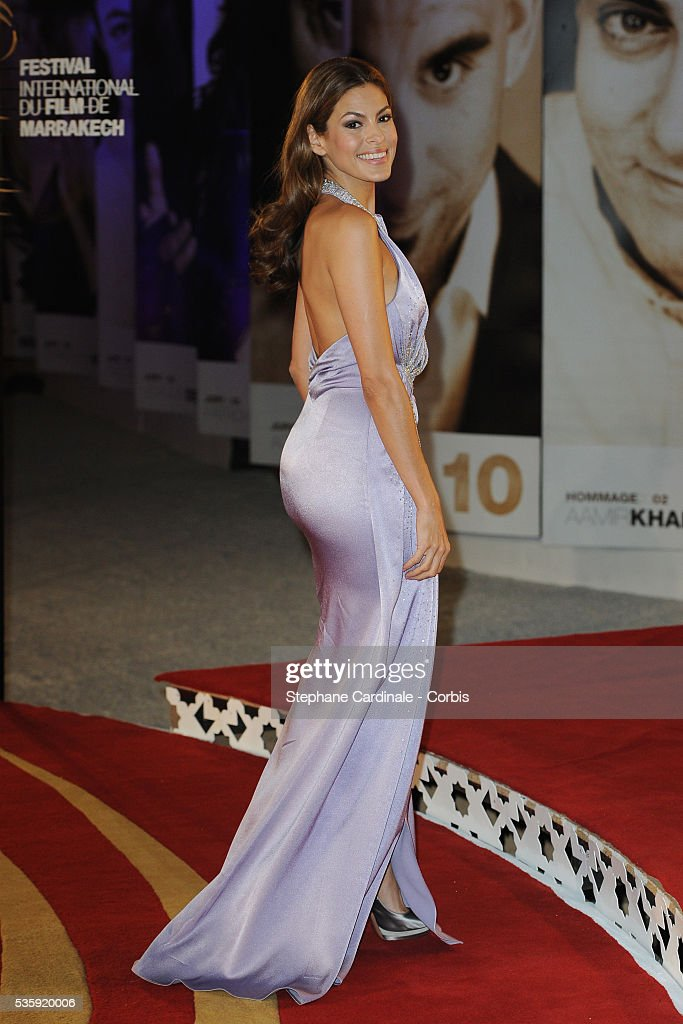Eva Mendes attends the Opening Ceremony of the Marrakech 10th Film Festival.