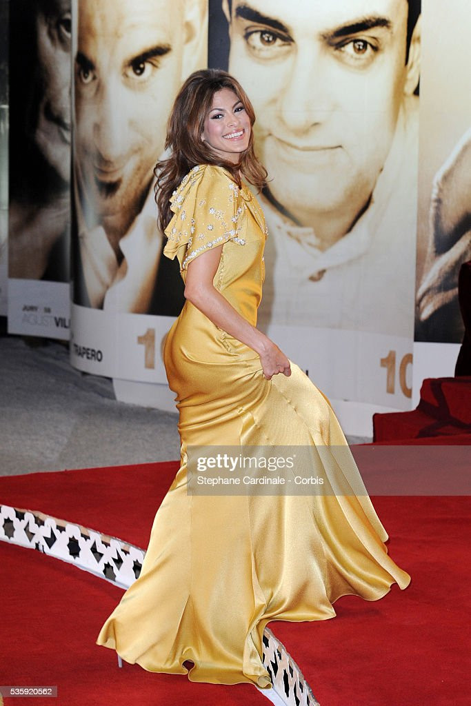 Eva Mendes attends the Tribute to French Cinema during the Marrakech 10th Film Festival.