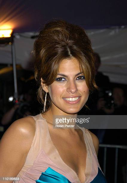 Eva Mendes during 2004 Costume Institute Gala 'Dangerous Liaisons' Arrivals at Metropolitan Museum of Art in New York City New York United States
